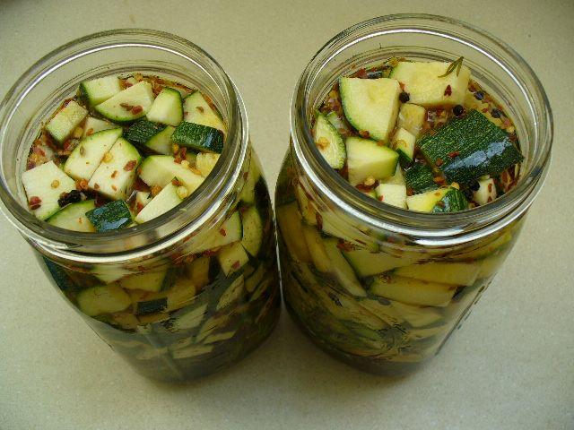 fermenting zucchini